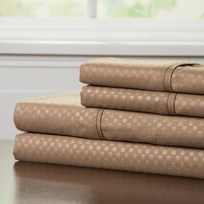 90 GSM Embossed Sheet Set Color: Taupe, Size: Queen
