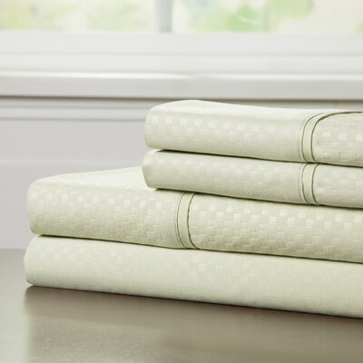 90 GSM Embossed Sheet Set Color: Sage, Size: Queen