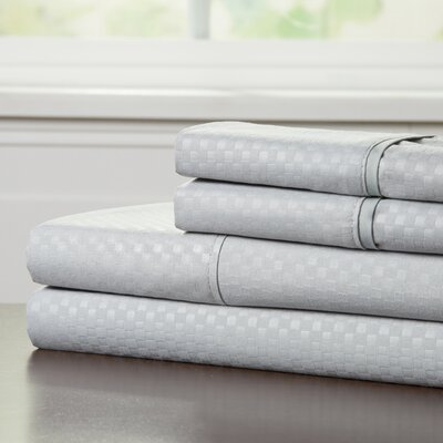90 GSM Embossed Sheet Set Color: Platinum, Size: Queen