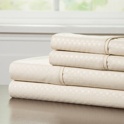 90 GSM Embossed Sheet Set Color: Champagne, Size: Twin