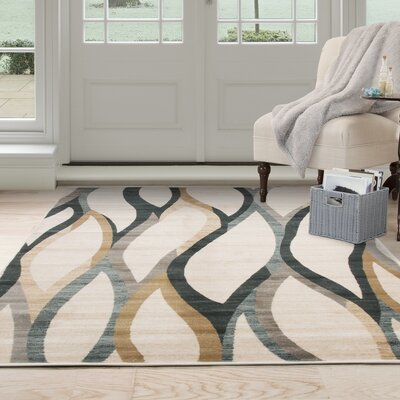 Adriana Cream Area Rug Rug Size: Rectangle 33 x 5