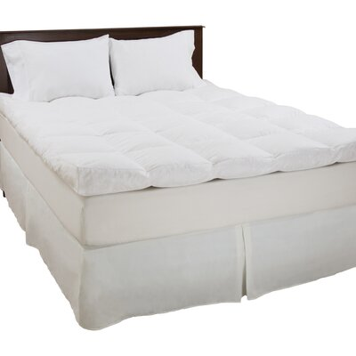 233 Thread Count Down Mattress Topper Size: Full
