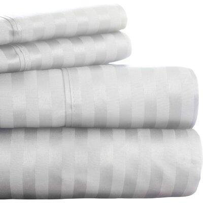 300 Thread Count Cotton Sateen Sheet Set Size: King, Color: White