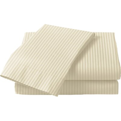 300 Thread Count Cotton Sateen Sheet Set Size: Queen, Color: Bone