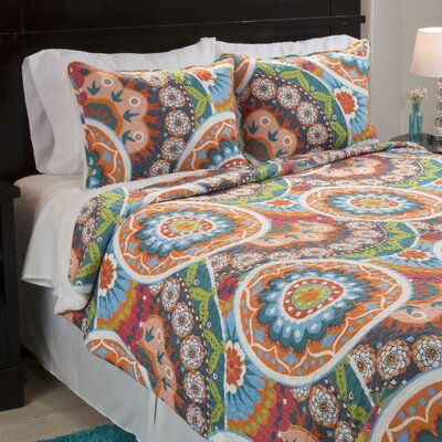 Danette Sherpa Quilt Set Size: Full/Queen