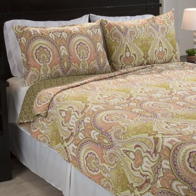 Cotton Reversible Quilt Set 66-10045-FQ
