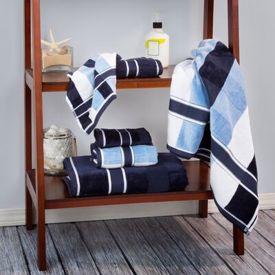 Oakville 100% Cotton 6 Piece Towel Set Color: Navy