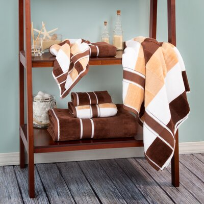 Oakville 100% Cotton 6 Piece Towel Set Color: Chocolate