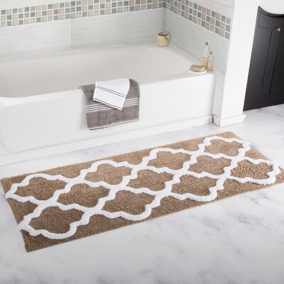 Gard Trellis Cotton Bath Mat Color: Taupe