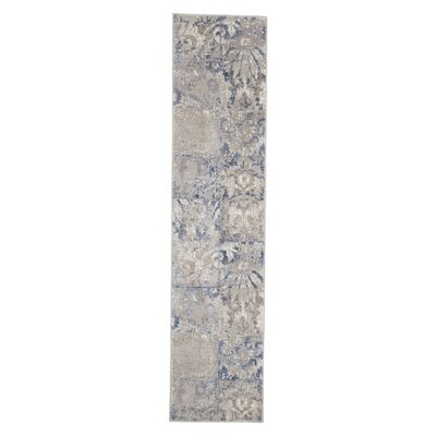 Beige/Blue Area Rug Rug Size: Runner 18 x 7