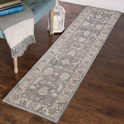 Gray Area Rug Rug Size: Runner 18 x 7