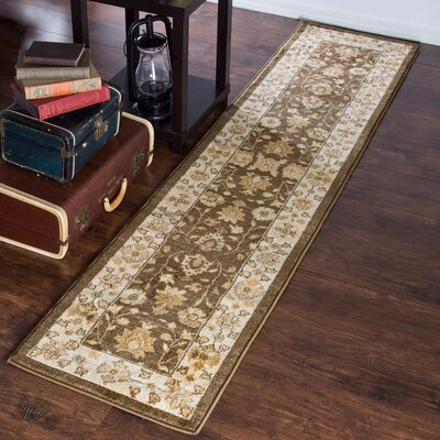Brown Area Rug Rug Size: Runner 18 x 7