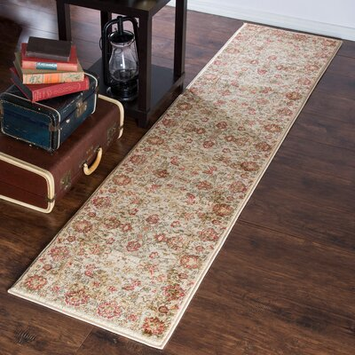 Ivory Area Rug Rug Size: Runner 18 x 7