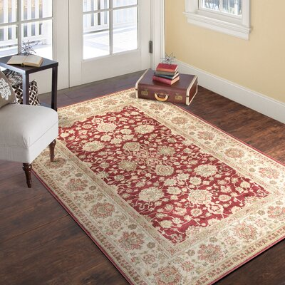 Red Area Rug Rug Size: 4 x 6