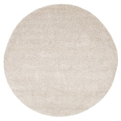 Beige Indoor/Outdoor Area Rug Rug Size: Round 8