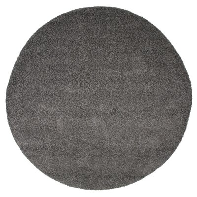 Charcoal Indoor/Outdoor Area Rug Rug Size: Round 8