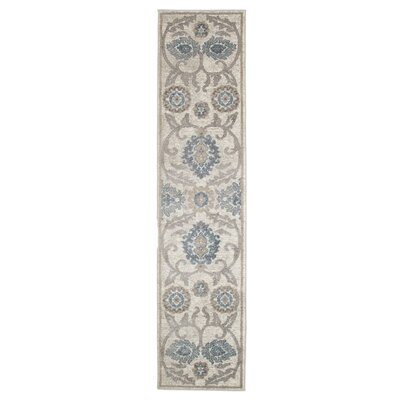 Ivory/Brown Area Rug Rug Size: Runner 18 x 7