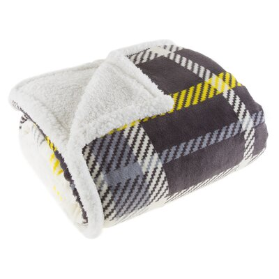 Plaid Sherpa Fleece Throw Blanket