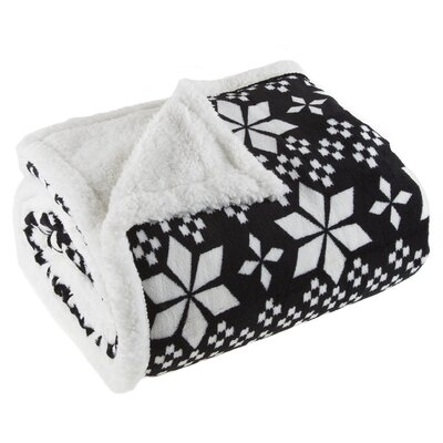 Snowflakes Sherpa Fleece Throw Blanket