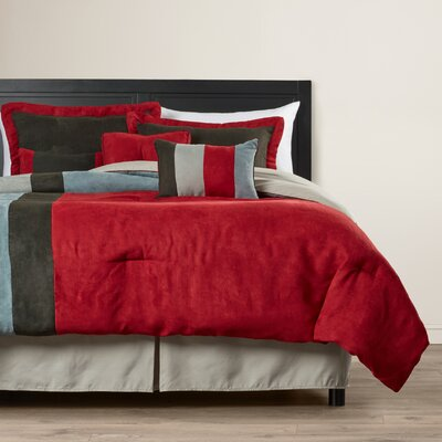 Rhea 7 Piece Comforter Set Size: King