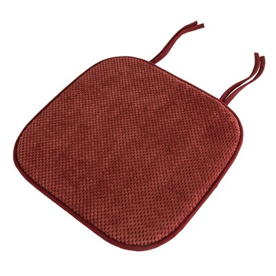 Memory Foam Pad Dining Chair Cushion Color: Burgundy