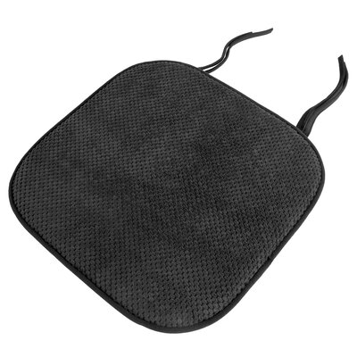Memory Foam Pad Dining Chair Cushion Color: Charcoal