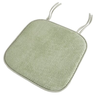 Memory Foam Pad Dining Chair Cushion Color: Green
