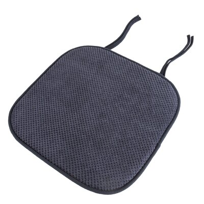 Memory Foam Pad Dining Chair Cushion Color: Navy