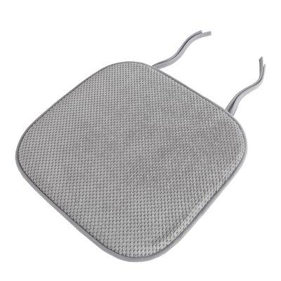 Memory Foam Pad Dining Chair Cushion Color: Platinum