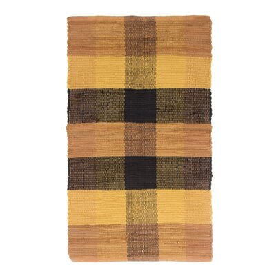 Brisbin Plaid Accent Hand-Woven Burnt Orange Area Rug Rug Size: 2 x 5