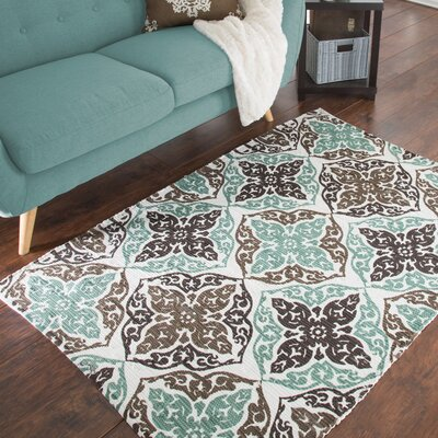 Roche Damask Motif Accent Hand-Woven Taupe Area Rug