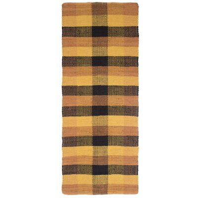 Brisbin Plaid Accent Hand-Woven Burnt Orange Area Rug Rug Size: 1'9