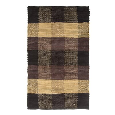 Brisbin Plaid Accent Hand-Woven Black Area Rug Rug Size: 2 x 5