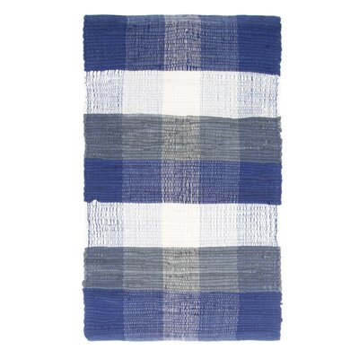 Brisbin Plaid Accent Hand-Woven Navy Blue Area Rug Rug Size: Rectangle 2 x 5