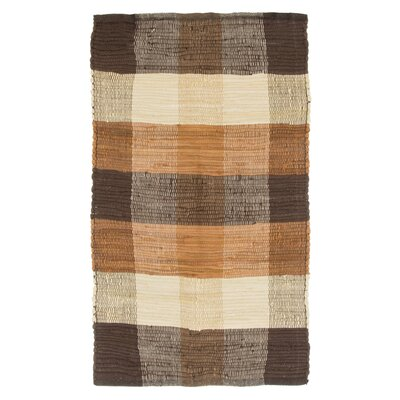 Brisbin Plaid Accent Hand-Woven Taupe Area Rug Rug Size: Rectangle 2 x 5