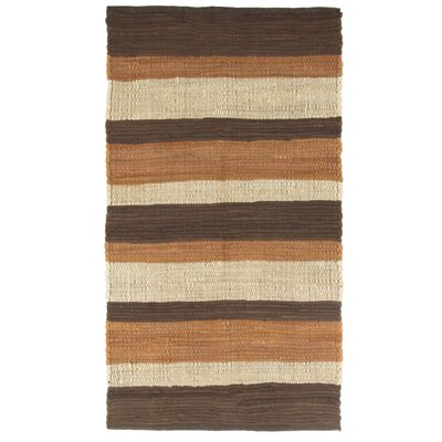 Sandeep Stripe Accent Hand-Woven Taupe Area Rug Rug Size: Rectangle 2 x 5