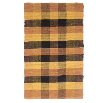 Brisbin Plaid Accent Hand-Woven Burnt Orange Area Rug Rug Size: Rectangle 23 x 39