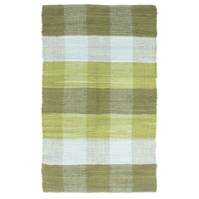Brisbin Plaid Accent Hand-Woven Green Area Rug Rug Size: 2 x 5