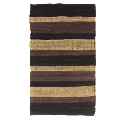 Sandeep Stripe Accent Hand-Woven Black Area Rug Rug Size: Rectangle 2 x 5
