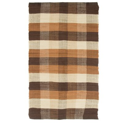 Brisbin Plaid Accent Hand-Woven Taupe Area Rug Rug Size: Rectangle 23 x 39