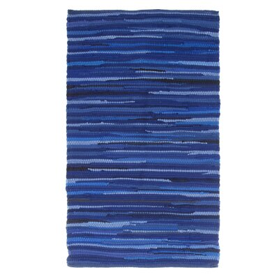 Sandeep Accent Hand-Woven Blue Area Rug Rug Size: Rectangle 23 x 39