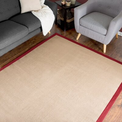McGregor Jute Hand-Woven Burgundy Area Rug Rug Size: Rectangle 36 x 5