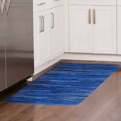 Chindi Tonal Hand-Woven Blue Area Rug Rug Size: 23 x 39