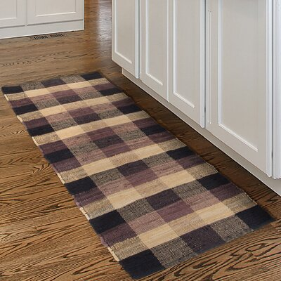 Hand-Woven Brown/Beige Area Rug Rug Size: Runner 2 x 54