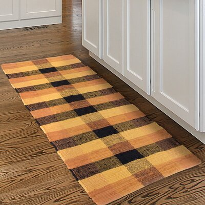 Chindi Hand-Woven Orange/Black Area Rug Rug Size: Runner 2 x 54