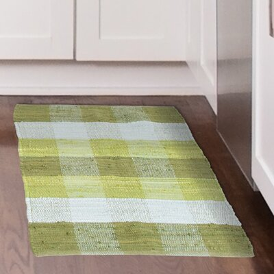 Chindi Hand-Woven Green/Gray Area Rug Rug Size: 1'9