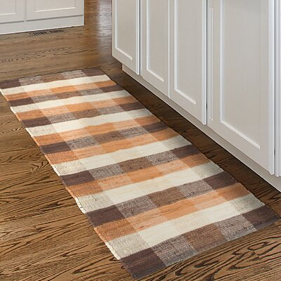 Chindi Hand-Woven Brown/Orange Area Rug Rug Size: Runner 2 x 54