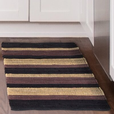 Chindi Hand-Woven Brown/Beige Area Rug Rug Size: 19 x 210