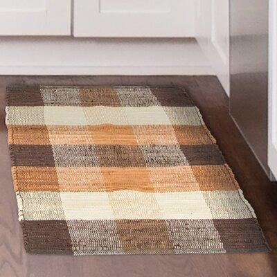 Chindi Hand-Woven Brown/Orange Area Rug Rug Size: 19 x 210