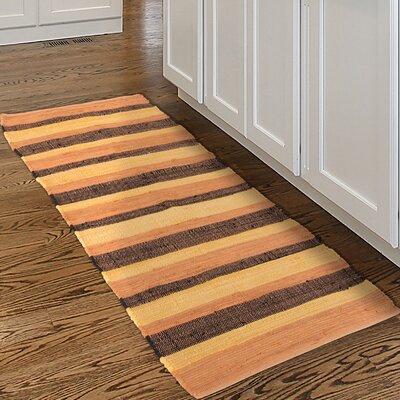 Chindi Hand-Woven Orange/Black Area Rug Rug Size: Runner 2 x 54